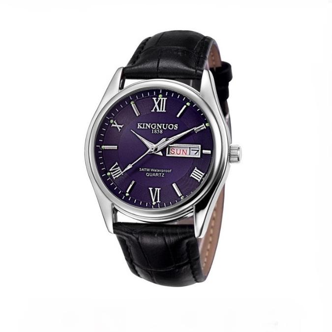 Красивые мужские часы «Kingnuos» с календарём на синем циферблате купить. Цена 785 грн