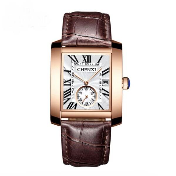 Классические кварцевые часы «Chenxi» прямоугольной формы с римскими цифрами купить. Цена 1165 грн