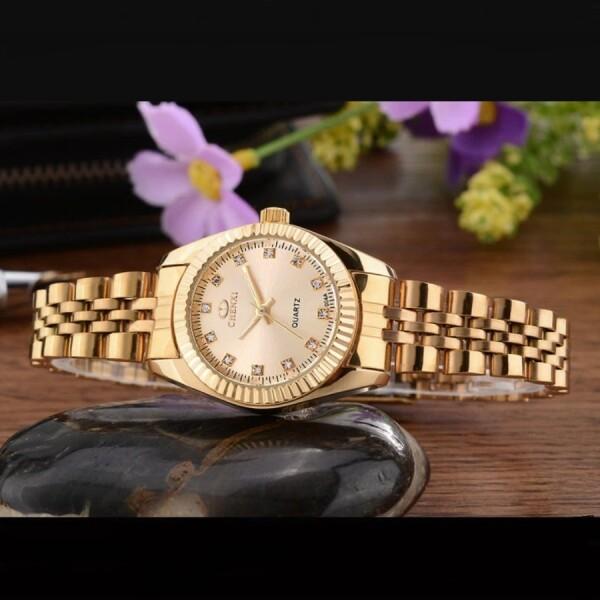 Небольшие женские часы «Chenxi» с кварцевым механизмом и красивым золотым браслетом купить. Цена 890 грн