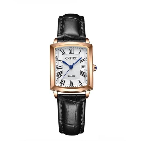 Строгие женские часы «Chenxi» прямоугольной формы с чёрным ремешком купить. Цена 1099 грн