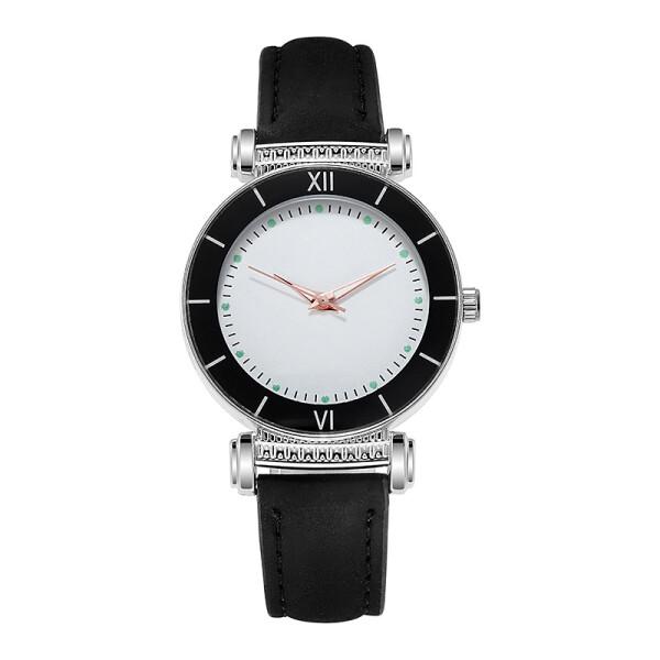 Современные женские часы «Quartz» небольшого размера с чёрным ремешком купить. Цена 225 грн
