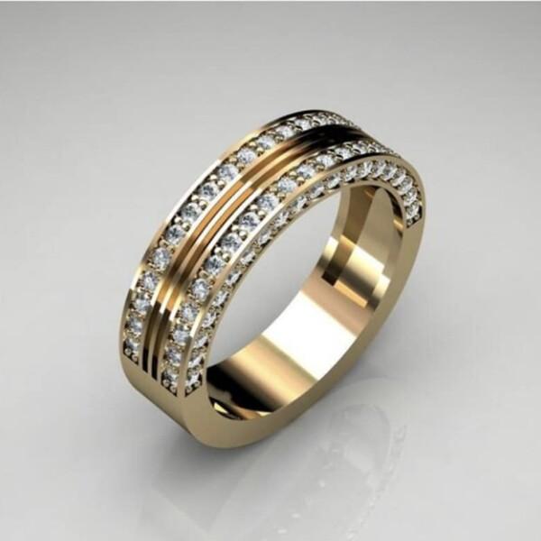 Яркое кольцо «Gedeon» с множеством фианитов в оправе под золото купить. Цена 199 грн