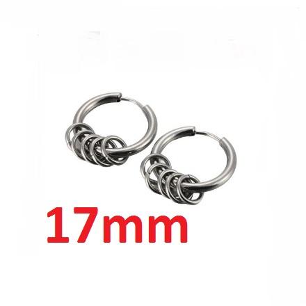Серебристые серьги «Pinksee» в форме колец из медицинской стали купить. Цена 175 грн