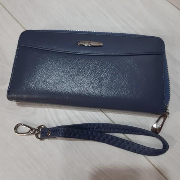 Безупречный кошелёк «Kochi» из мягкой кожи красивого синего цвета купить. Цена 599 грн