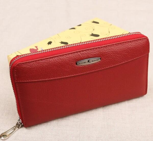 Красный кошелёк на молнии «Kochi» из мягкой натуральной кожи купить. Цена 599 грн