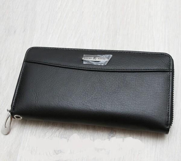 Строгий женский кошелёк «Kochi» из натуральной кожи чёрного цвета купить. Цена 599 грн