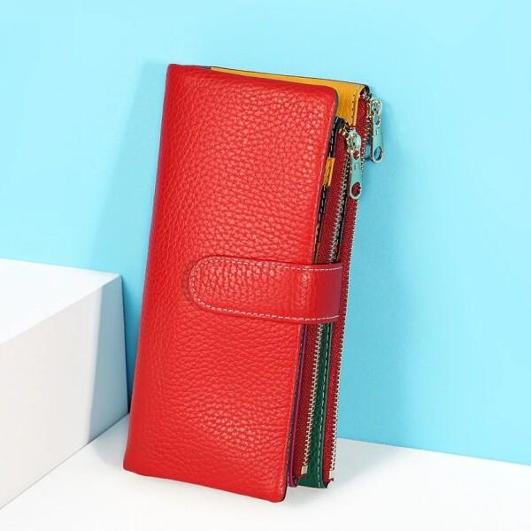 Вместительный кошелёк «X.D.Bolo» из мягкой натуральной кожи ярких цветов купить. Цена 998 грн
