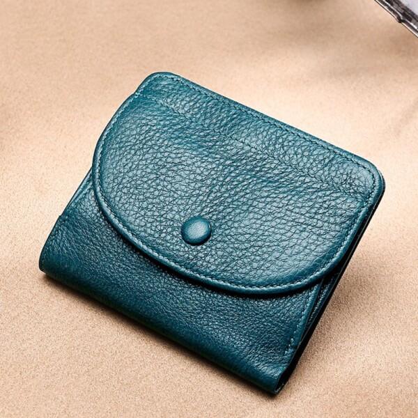 Синий кошелёк «Joyir» компактного размера из очень мягкой кожи купить. Цена 599 грн