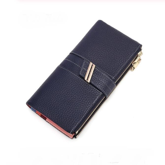 Модный женский кошелёк «X.D.Bolo» синего цвета из зернистой кожи купить. Цена 885 грн
