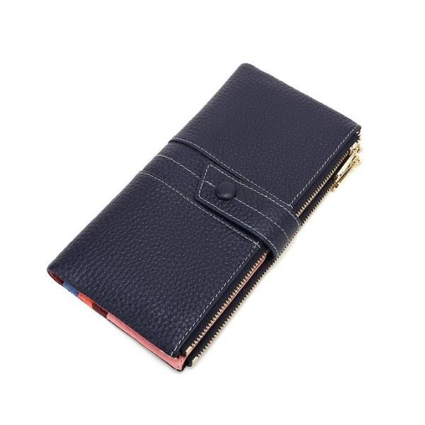 Стильный кошелёк «X.D.Bolo» из синей кожи снаружи и разноцветной внутри купить. Цена 885 грн