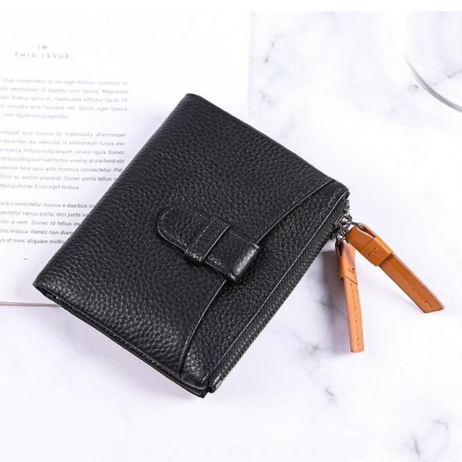 Маленький женский кошелёк «X.D.Bolo» из мягкой чёрной натуральной кожи купить. Цена 799 грн
