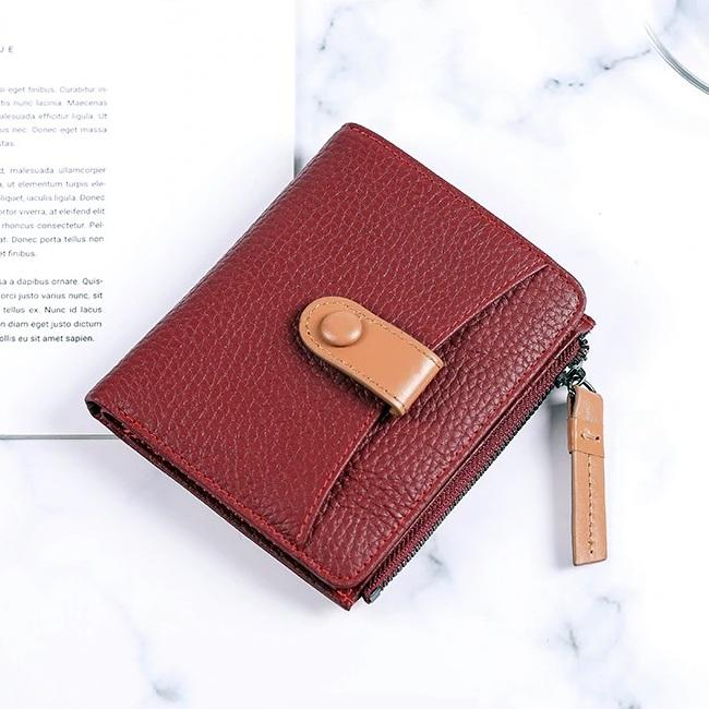 Компактный кошелёк «X.D.Bolo» бордового цвета из мягкой зернистой кожи купить. Цена 885 грн