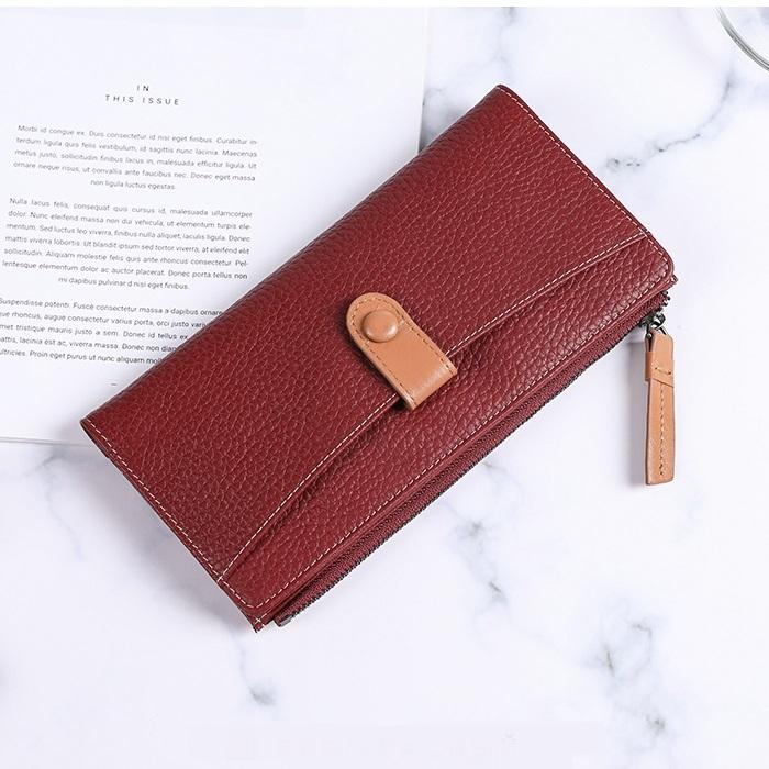 Ультратонкий кошелёк «X.D.Bolo» бордового цвета из мягкой фактурной кожи купить. Цена 985 грн
