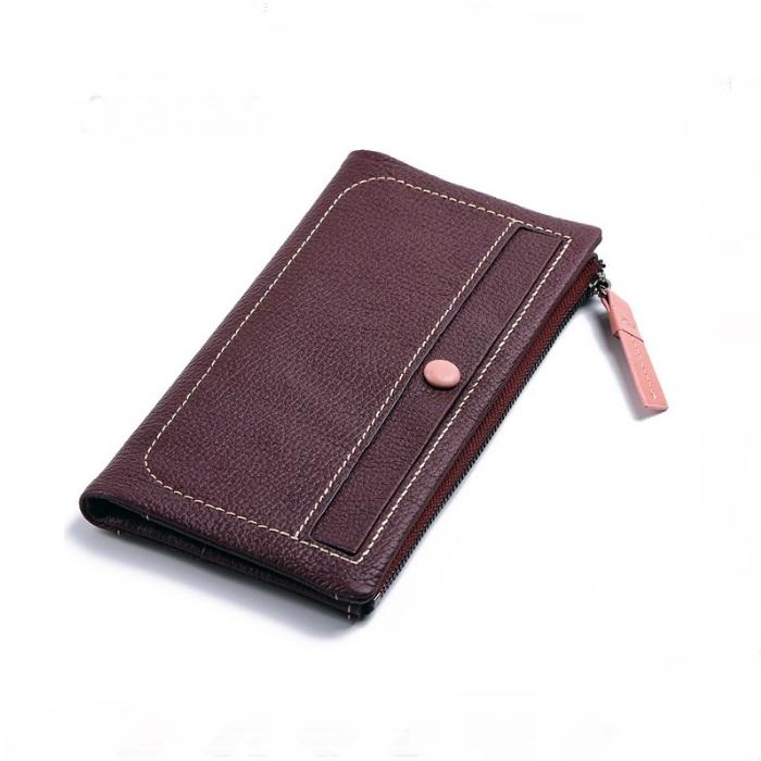 Отличный женский кошелёк «X.D.Bolo» из мягкой кожи пурпурного цвета купить. Цена 985 грн
