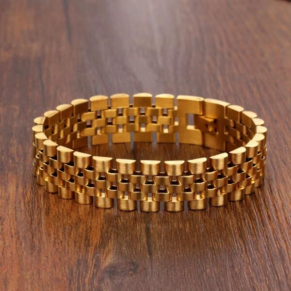 Великолепный браслет «Барханы» из нержавеющей стали с плетением Rolex купить. Цена 465 грн