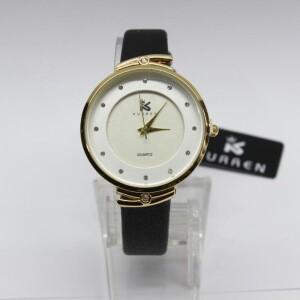 Женственные часы «Curren» с классическим циферблатом и узким чёрным ремешком фото. Купить