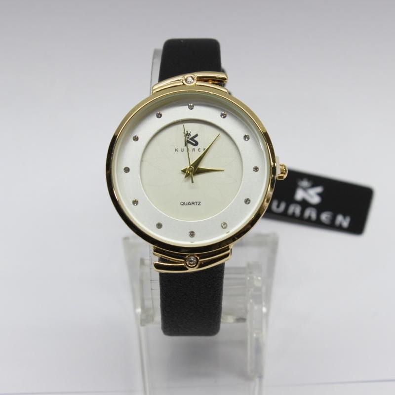 Женственные часы «Curren» с классическим циферблатом и узким чёрным ремешком купить. Цена 375 грн