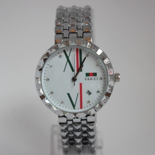 Трендовые женские часы «Gucci» с красивым циферблатом и металлическим браслетом купить. Цена 599 грн