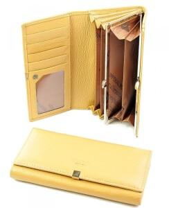 Кожаный кошелёк «Imperial Horse» лимонного цвета купить. Цена 499 грн