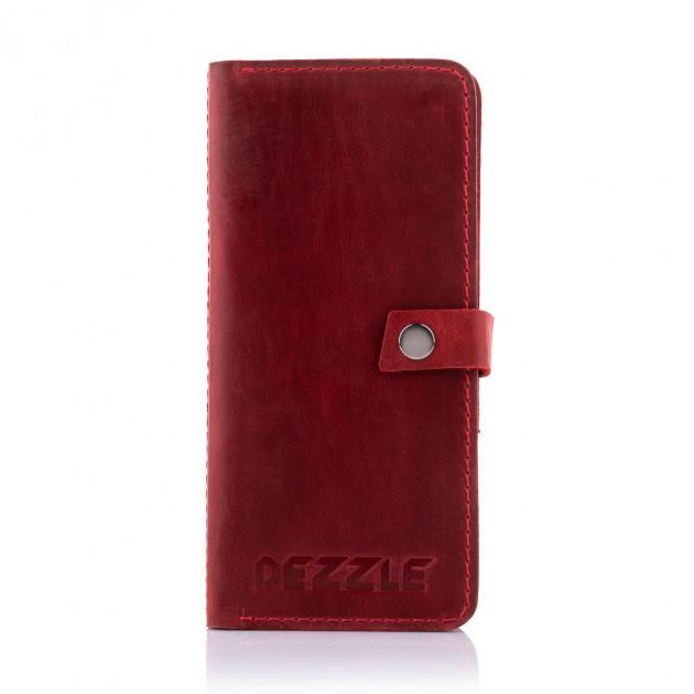 Красный кошелёк «Dezzle» ручной работы из натуральной кожи «crazy horse» купить. Цена 899 грн