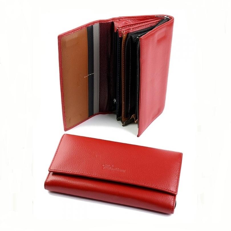 Яркий кожаный кошелёк «Cossroll» с клапаном на магнитной застёжке купить. Цена 699 грн