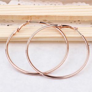 Массивные серьги «Большие кольца» из сплава с высококлассным золотым напылением купить. Цена 190 грн