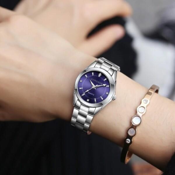 Интересные часы «Chronos» с качественным кварцевым механизмом и браслетом купить. Цена 870 грн