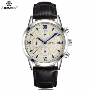 Классические многофункциональные часы «Liandu» с хронографом и окошком даты фото. Купить