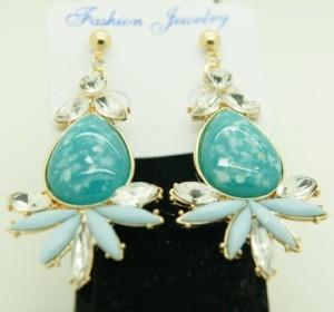 Крупные серьги «Сарагоса» необычной формы с голубыми, бирюзовыми и бесцветными камнями купить. Цена 99 грн