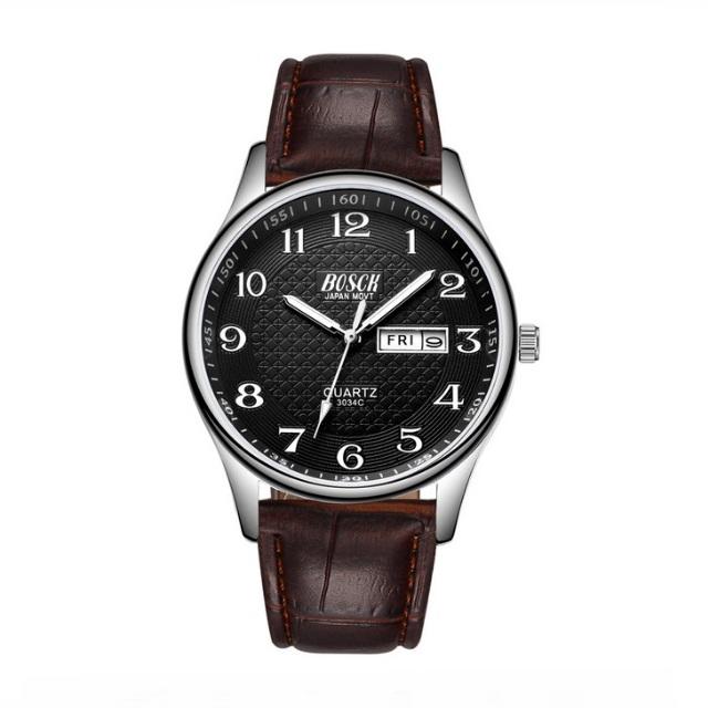 Классические наручные часы «Bosck» с календарём на чёрном циферблате купить. Цена 775 грн