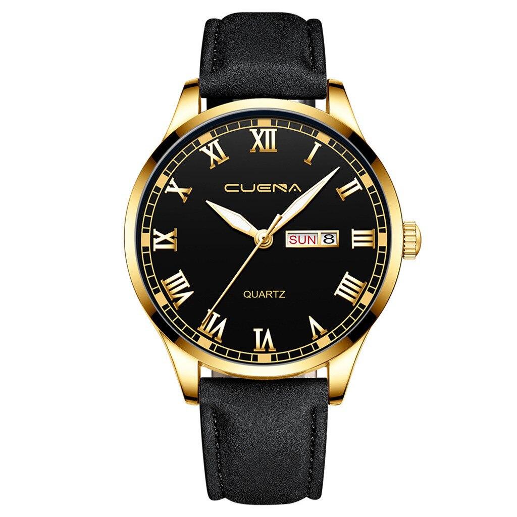 Строгие мужские часы «Cuena» классического стиля с римскими цифрами и календарём купить. Цена 399 грн