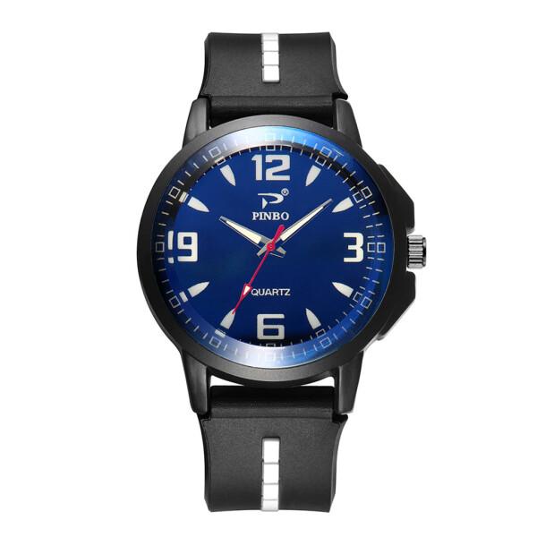 Спортивные мужские часы «Pinbo» чёрного цвета с силиконовым ремешком купить. Цена 275 грн
