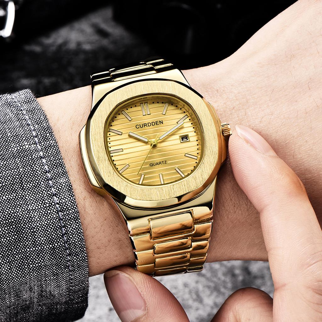 Золотые наручные часы «Curdden» из нержавеющей стали с красивым браслетом купить. Цена 799 грн