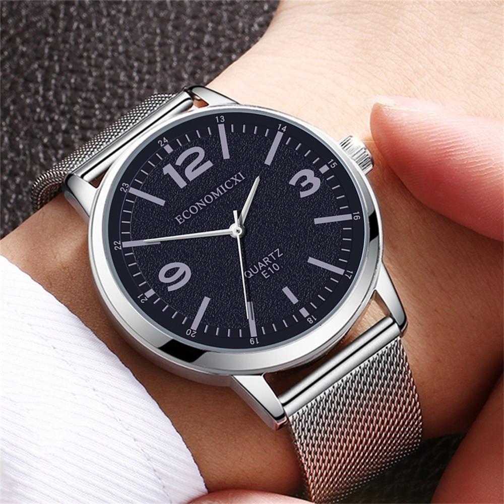 Деловые мужские часы «Economicxi» с металлическим ремешком-кольчугой купить. Цена 299 грн