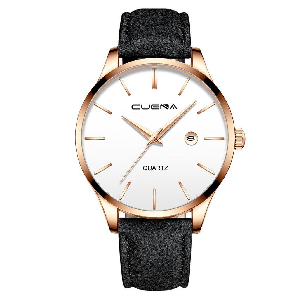 Мужские наручные часы «Cuena» в классическом стиле с датой и мягким чёрным ремешком купить. Цена 399 грн