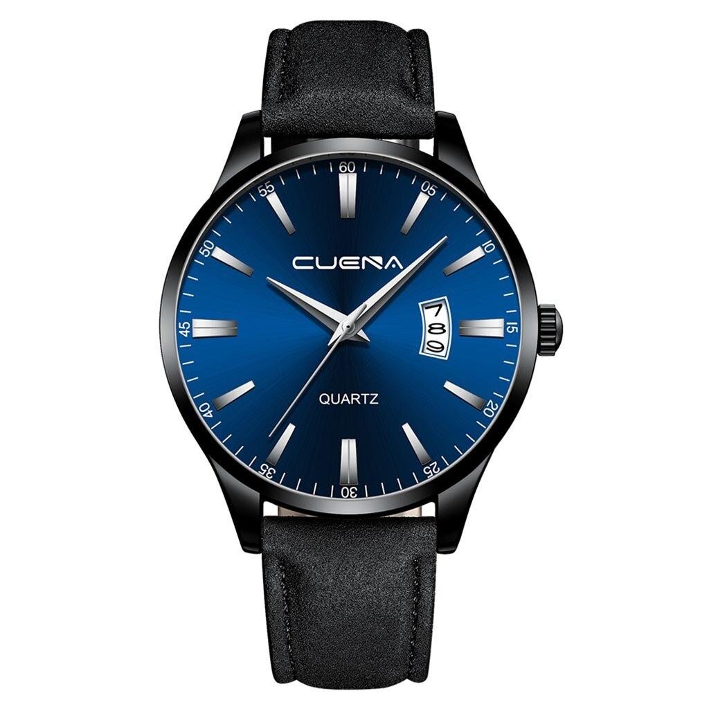 Строгие мужские часы «Cuena» с синим циферблатом с отображением даты купить. Цена 399 грн