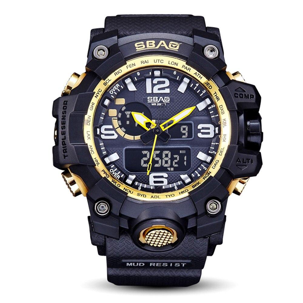 Большие кварцевые часы «SBAO» чёрного цвета с каучуковым ремешком купить. Цена 785 грн