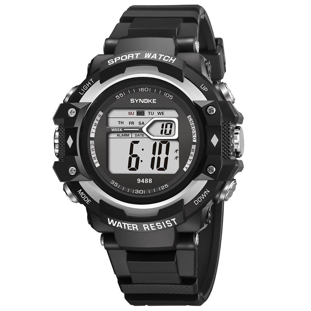 Массивные электронные часы «Synoke» с чёрным каучуковым ремешком купить. Цена 399 грн