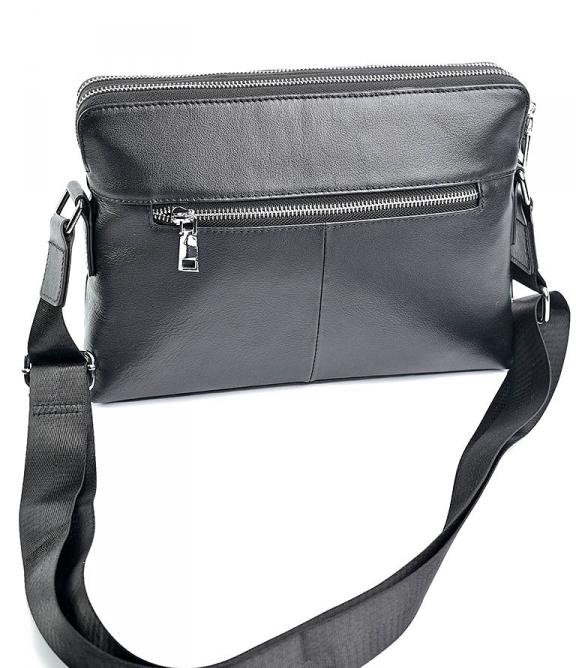 Горизонтальная мужская сумка «Solana» из качественной кожи с двумя отделениями фото 1
