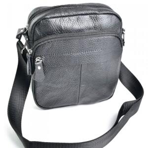 Небольшая мужская сумка «Laras» из зернистой чёрной кожи купить. Цена 790 грн