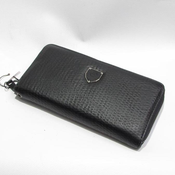 Классический мужской клатч «P.Plein» из жатой экокожи чёрного цвета купить. Цена 345 грн