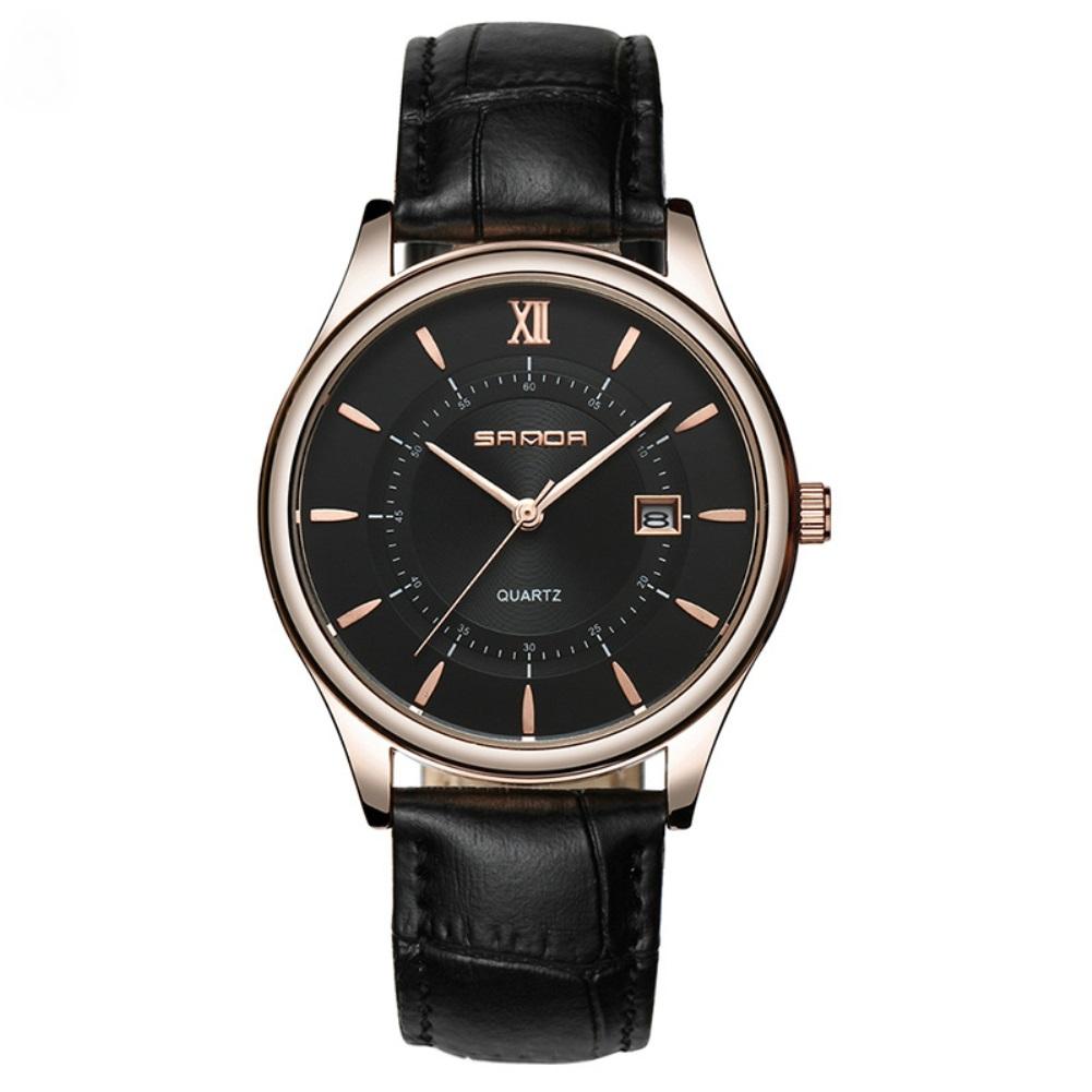 Качественные часы «Sanda» с чёрным ремешком под кожу рептилии купить. Цена 599 грн