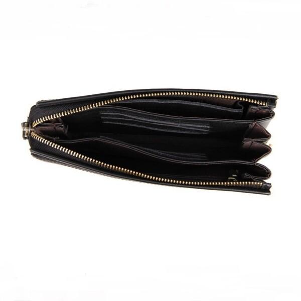 Классический мужской клатч «Baellirry» из мягкой натуральной кожи чёрного цвета фото 2