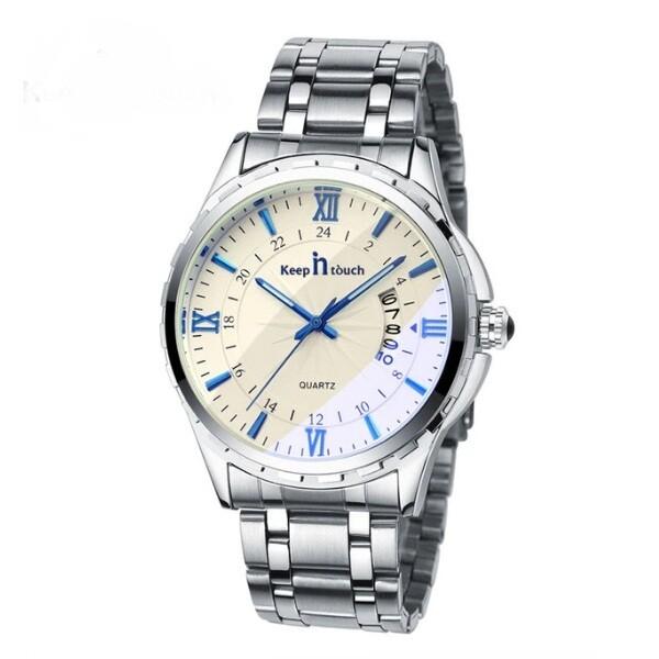 Красивые мужские часы «Keep in Touch» с кварцевым механизмом и серебристым браслетом купить. Цена 875 грн