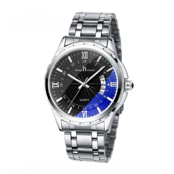 Крупные мужские часы «Keep in Touch» с чёрным циферблатом купить. Цена 875 грн