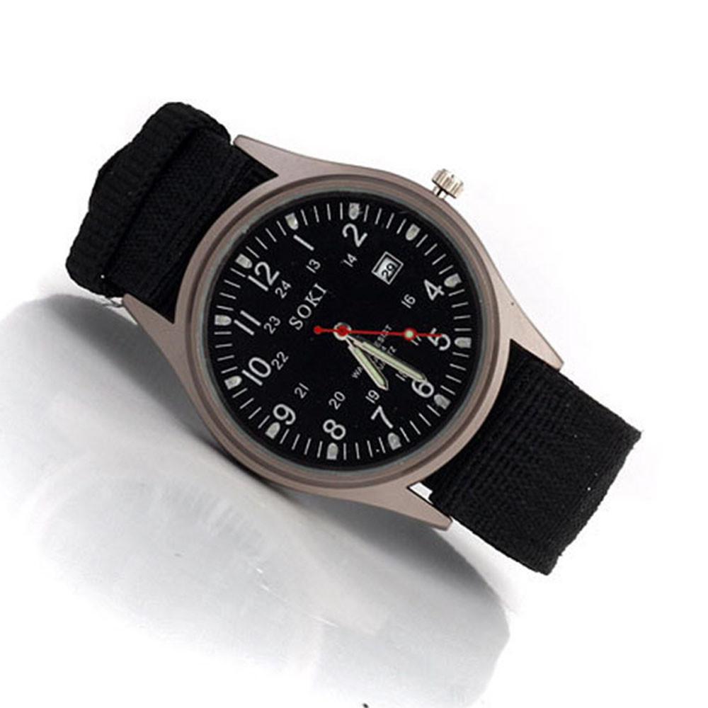 Отличные мужские часы «SOKI» в армейском стиле с нейлоновым ремешком купить. Цена 299 грн