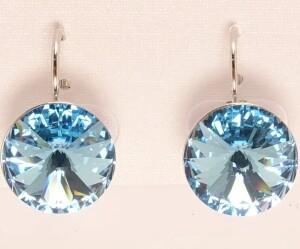 Популярные серьги «Голубая лагуна Платина» с красивейшим камнем Сваровски купить. Цена 275 грн