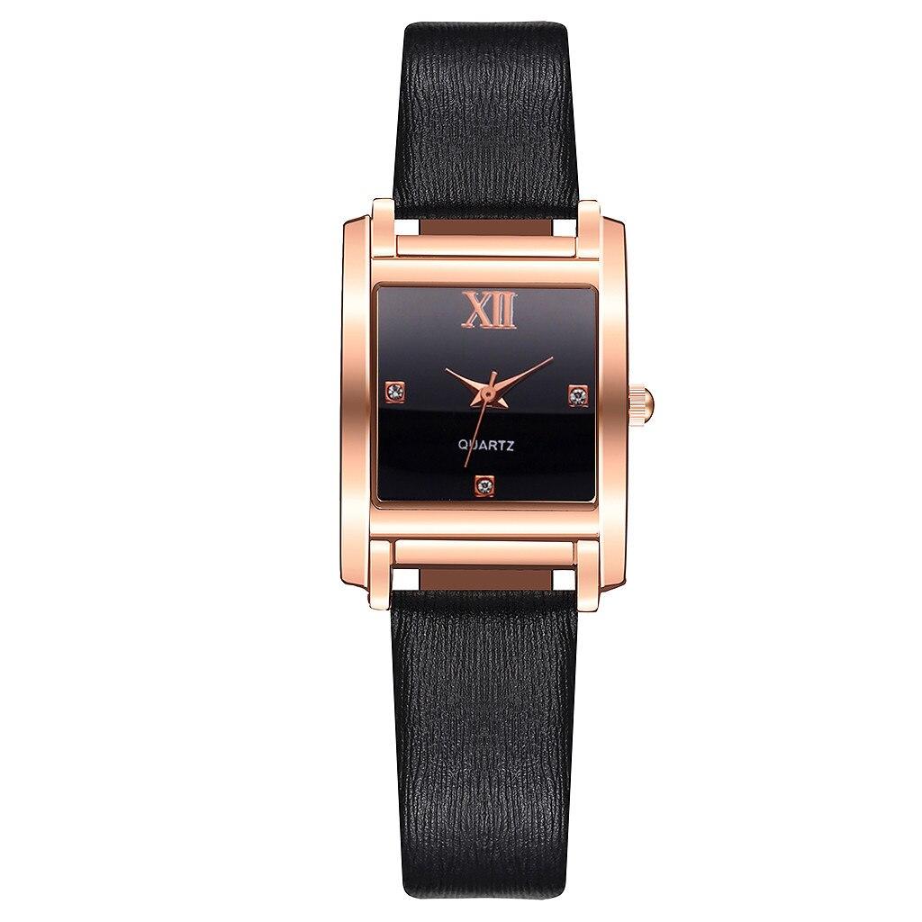 Небольшие женские часы «Vansvar» прямоугольной формы с чёрным ремешком купить. Цена 265 грн