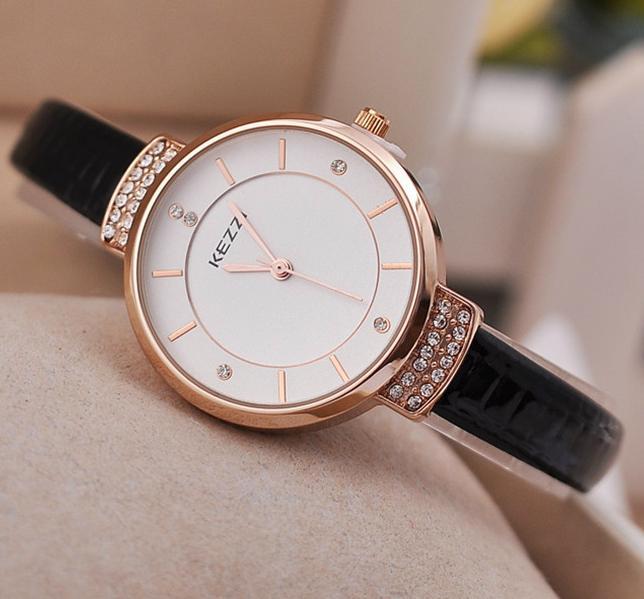Позолоченные женские часы «KEZZI» с японским кварцевым механизмом купить. Цена 670 грн