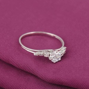Высококачественное кольцо «Фортуна» (бренд-UMODE) с реально платиновым покрытием и бесцветными цирконами купить. Цена 165 грн